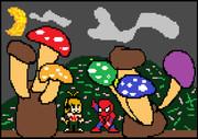 キノコ狩りの男スパイダーマッとマキ