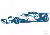 【切り絵】F1 アルファタウリ AT01