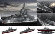 MMD用モブ超弩級戦艦1943(ニューモブシコ)セット