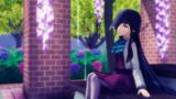 藤と紫陽花と早霜と雨