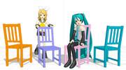 【MMD】椅子【アクセサリ配布あり】