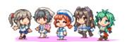 【GIFアニメ】ウォーキング新艦勢(前段)
