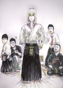 剣道の審査に挑むたてながアリス