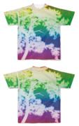 Tシャツ フルグラフィック レインボー木☆木