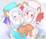 双子イワンちゃん(ぷっコク!!)