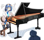 ピアノを作るフランちゃん
