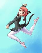 お燐の猫っぽいジャンプ