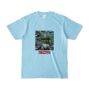 Tシャツ ライトブルー HIT&CAT