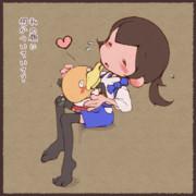 濃厚接触な加賀さんと瑞鶴