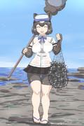 ヒグマさんが海でウニを獲ってきてくれました