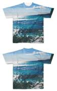 Tシャツ フルグラフィック 段々海岸