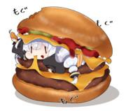 ダブルチーズバーガーあかり。
