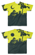 Tシャツ フルグラフィック 三日月満月キャンプ