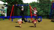 うーちゃんとポテトちゃんのキラメイダンス練習
