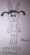 ウサギの女の子「メイベルちゃん」
