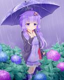雨の音を聴いて