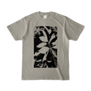 Tシャツ シルバーグレー Origin_Leaf