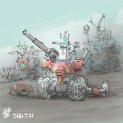 直協支援型MS「ジムキャノン砲撃特化型」