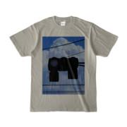 Tシャツ シルバーグレー 雲と信号