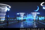 【MMDステージ配布】夜の西洋橋(青)