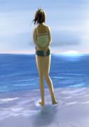 明け方の海としおいちゃん