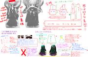 FGOの虞美人風ドレスの型紙&作成説明でーす