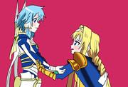 アリスとシノン。2人の初めての出会い