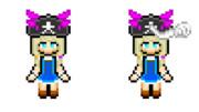 【ドット絵】邪眼の姫の物語のユエ(ナマヲブシ帽子)
