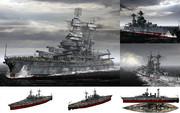 MMD用モブ超弩級戦艦1942(モブラド)セット