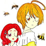 蜂に刺されるはなほま