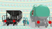 【20夏MMDふぇすと展覧会】赤円盤作ってみた。【MMD鉄道】