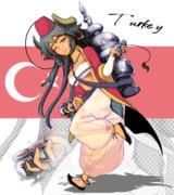 トゥルキエちゃんとトルコ名物『アシュラマ』