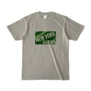 Tシャツ シルバーグレー NEW_YORK_GARDEN