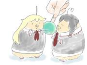 アイスキャンディとハム
