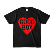 Tシャツ ブラック GOOD_BOY_HEART