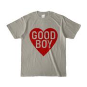 Tシャツ シルバーグレー GOOD_BOY_HEART