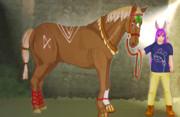 ASTK馬と観光客