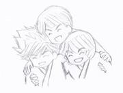 笑顔の3人