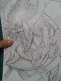 SCP-682 クソトカゲを描いてみた