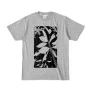 Tシャツ 杢グレー Origin_Leaf