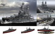 MMD用モブ超弩級戦艦1942(モブシルベニア)セット