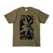 Tシャツ オリーブ Origin_Leaf