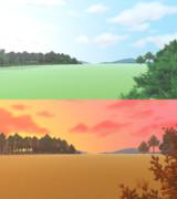 自然ステージ・色が変わるスカイドーム