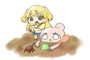 カブトムシを捕まえる為にゼリーを置いてたら思わぬ来訪者がやってきた城ヶ崎莉嘉