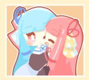 抱きつき琴葉姉妹