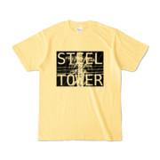 Tシャツ ライトイエロー STEEL☆TOWER