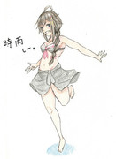 時雨さんとお絵描き練習10