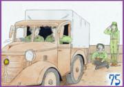 南方の95式トラックと将兵