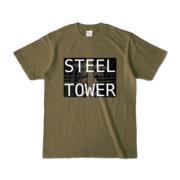 Tシャツ オリーブ STEEL☆TOWER