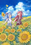 琴葉姉妹とお日様畑。